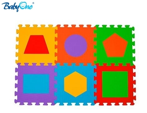 Pěnové puzzle Baby Ono - Tvary - 6 ks