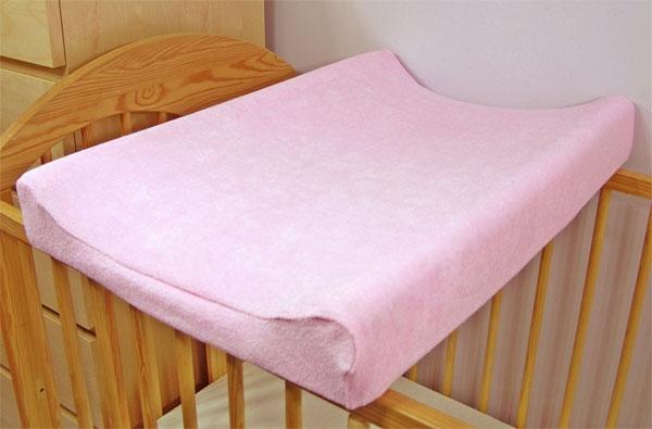 Froté potah na přebalovací podložku, 70cm x 50cm - růžový