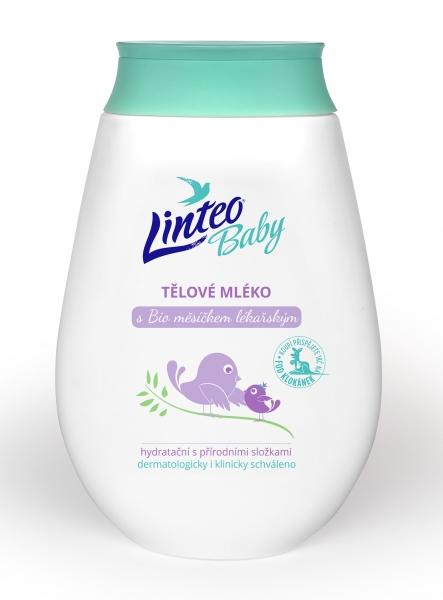 Tělové mléko s BIO měsíčkem lékařským LINTEO BABY