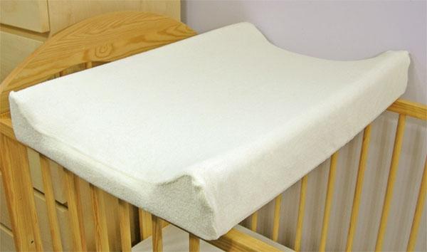 Baby Nellys Froté potah na přebalovací podložku, 70cm x 50cm - ecru