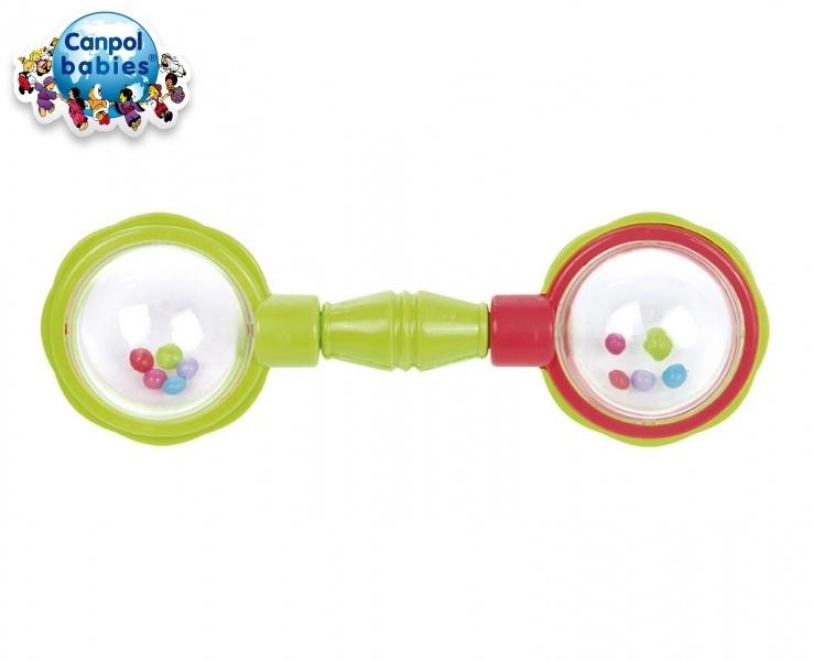 Canpol babies Kousátko s chrastítkem - ČINKA - zelené