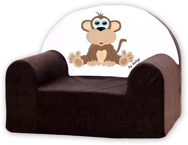 Dětské křeslo Nellys - Opička Nellys hnědá