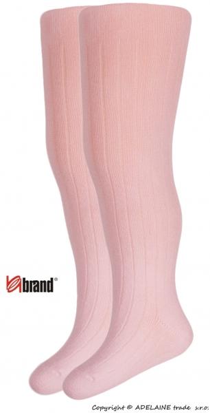 Bavlněné punčocháčky Organic Cotton - sv. růžové