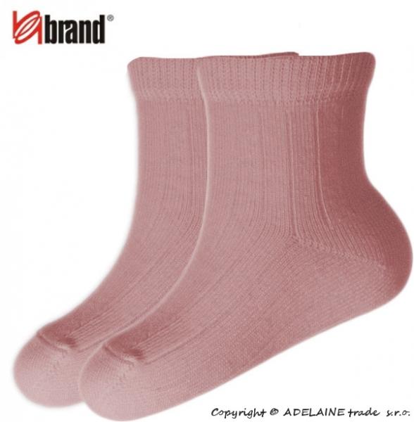 Kojenecké ponožky Organic Cotton - SV. RŮŽOVÉ