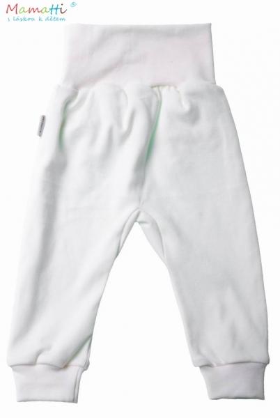 Tepláčky/polodupačky - bílé, Velikost: 80 (9-12m)