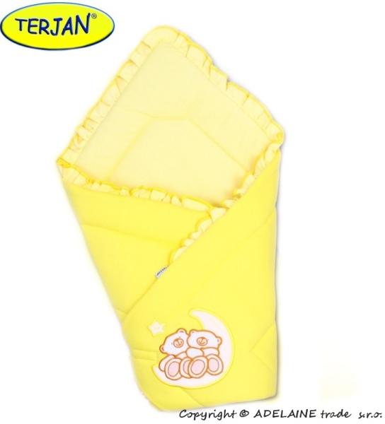 TERJAN Zavinovačka Míšové a hvězdička - jersey - krém/žlutá