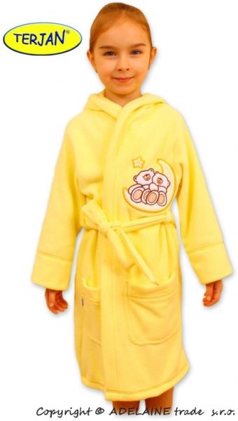 Dětský župan Terjan - Medvídci na měsíčku - krémově žlutý