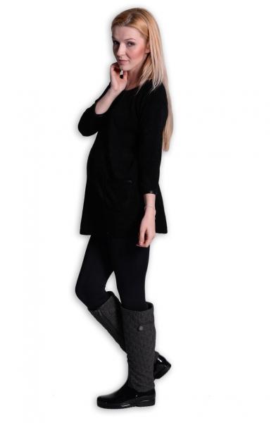 Tunika, šaty 3/4 rukáv - černá, Velikost: L/XL