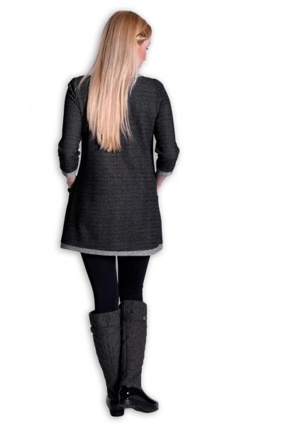 Be MaaMaa Těhotenské šaty Danny 3/4 rukáv - šedá/jeans