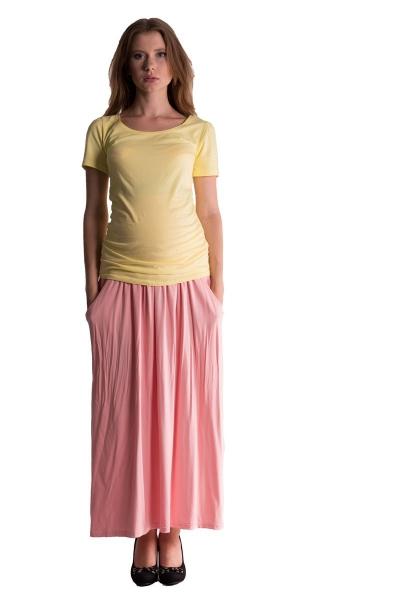 Be MaaMaa Maxi dlouhá sukně MAXINA  - sv. lososová