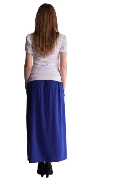 Be MaaMaa Maxi dlouhá sukně MAXINA  - tm.modrá/chaber