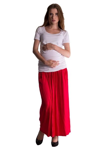 Be MaaMaa Maxi dlouhá sukně MAXINA  - červená