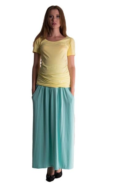 Be MaaMaa Maxi dlouhá sukně MAXINA  - mátová