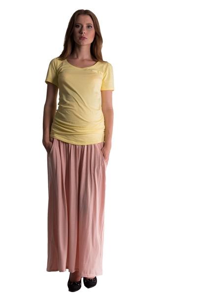 Be MaaMaa Maxi dlouhá sukně MAXINA  - pleťová