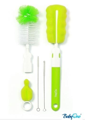 Sada štětek/kartáčů k mytí lahviček  - zelené