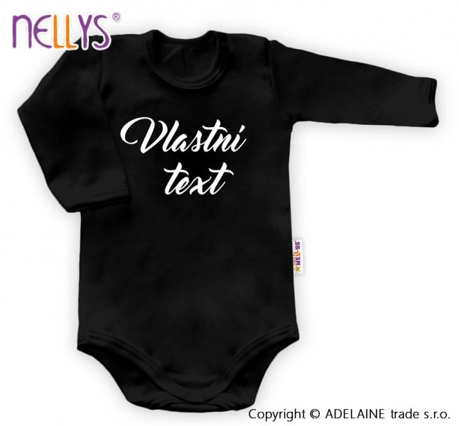 Baby Dejna Body s vlastním textem - černé, 62-92