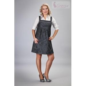 Elegantní šaty - černý melírek, Velikost: M