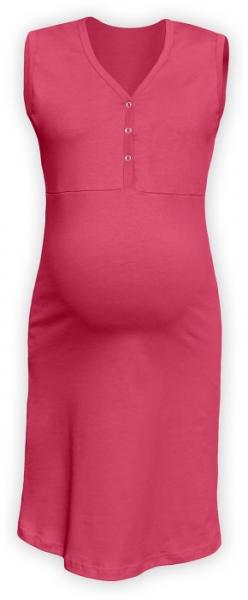 JOŽÁNEK Těhotenská, kojící noční košile PAVLA bez rukávu - lososově růžové