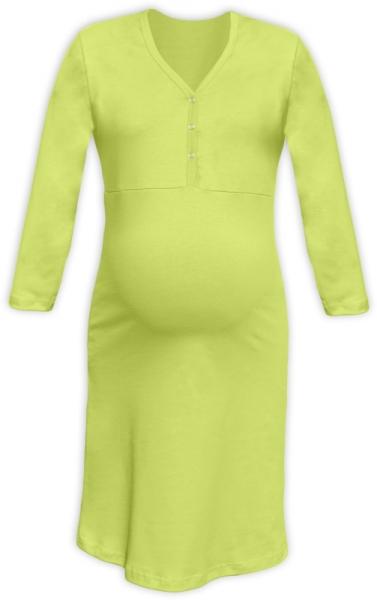 Těhotenská, kojící noční košile PAVLA 3/4 - hráškově zelená