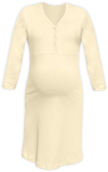 Těhotenská, kojící noční košile PAVLA 3/4 - latte