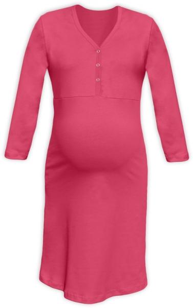 Těhotenská, kojící noční košile PAVLA 3/4 - lososově růžová, Velikost: L/XL