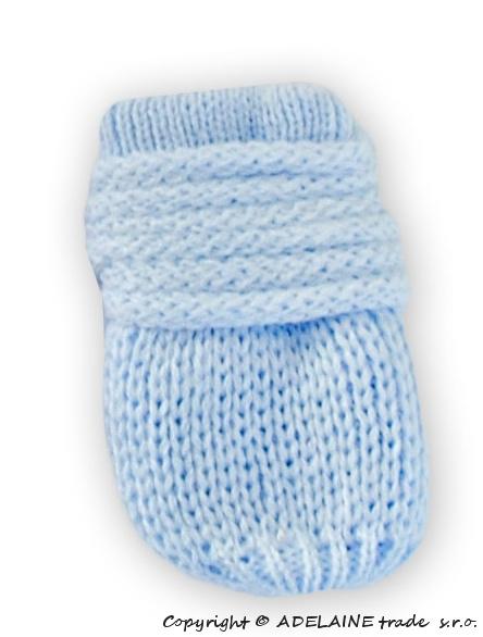 Zimní pletené  kojenecké rukavičky - sv. modré, Velikost: 0-1rok