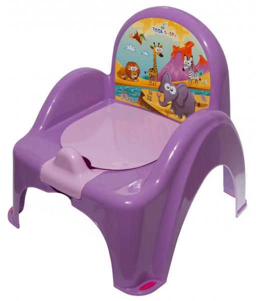 Nočník/židlička Safari - fialová