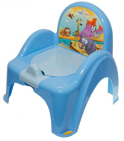 Nočník/židlička Safari - modrá