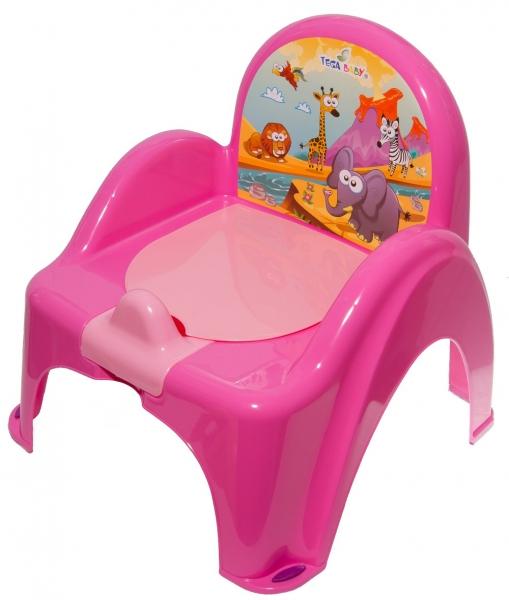 Tega Baby Nočník/židlička Safaris melodií - růžová