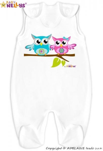 Dupačky Sovičky Baby Nellys ® - bílé