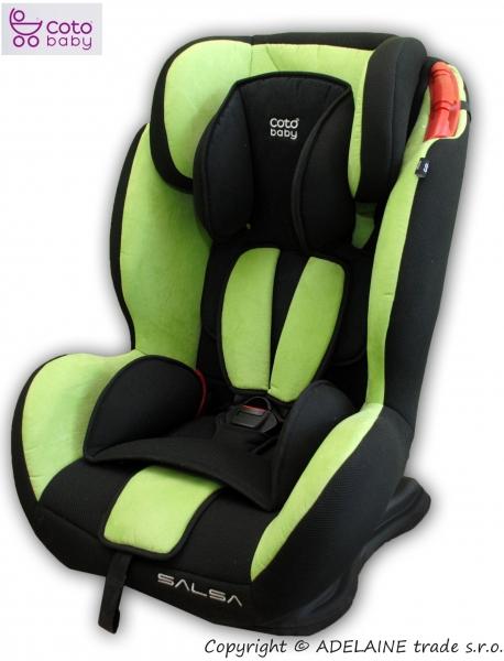 Autosedačka 9-36kg Coto baby SALSA nr.05 - barva: Zeleno-černá
