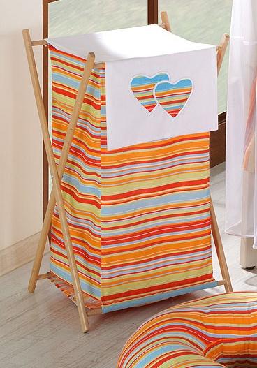 Luxusní praktický koš na prádlo - Srdíčko VP pomeranč