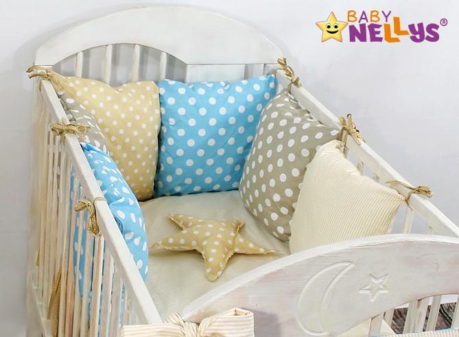Baby Nellys Mantinel Be Love Lux polštářkový s povlečením vzor č. 1