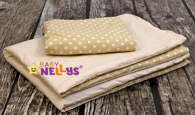 Baby Nellys Mantinel Be Love lux 135x100cm, polštářkový s povlečením vzor č. 1