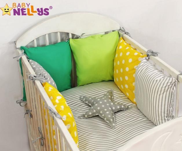 Baby Nellys Mantinel Be Love Lux 135x100cm, polštářkový s povlečením vzor č. 3