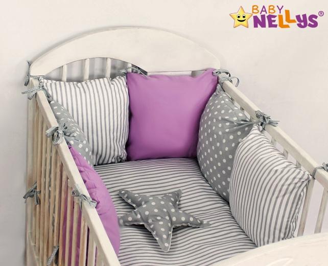 Baby Nellys Mantinel Be Love Lux 135x100cm, polštářkový s povlečením vzor č. 4