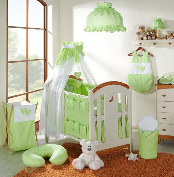Lustr do dětského pokojíčku - Srdíčko zelené