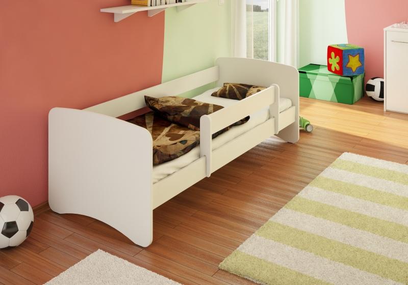 NELLYS Dětská postel s bariérkou Filip - bílá, 180x90 cm