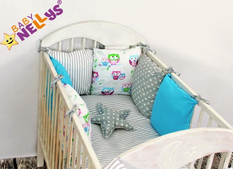 Baby Nellys Mantinel Be Love Lux polštářkový s povlečením vzor č. 9