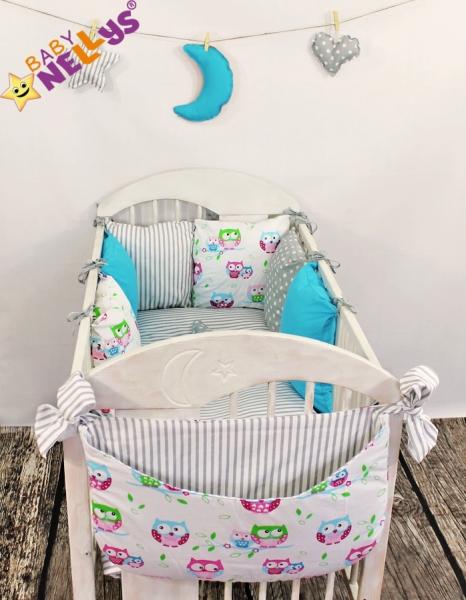 Baby Nellys Mantinel Be Love Lux 135x100cm, polštářkový s povlečením vzor č. 9