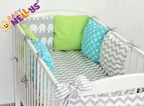 Baby Nellys Mantinel Be Love Lux 135x100cm, polštářkový s povlečením vzor č. 14