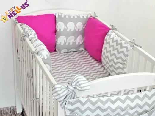 Baby Nellys Mantinel Be Love Lux 135x100cm, polštářkový s povlečením vzor č. 16