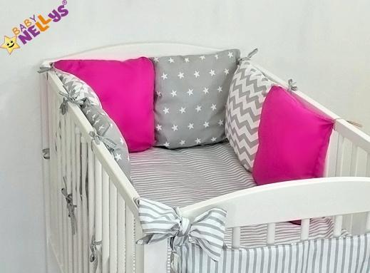 Baby Nellys Mantinel Be Love Lux 135x100cm, polštářkový s povlečením vzor č. 19