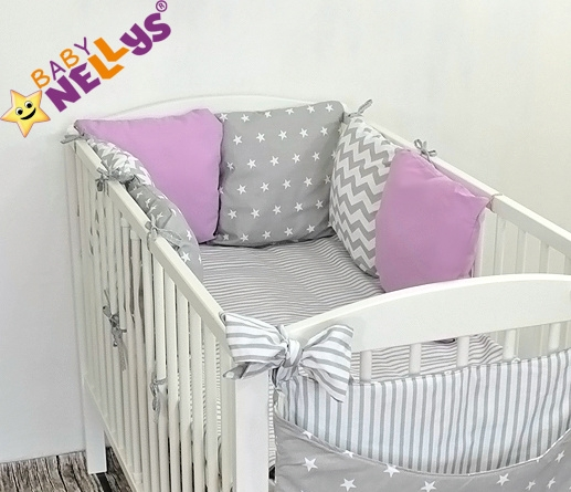 Baby Nellys Mantinel Be Love Lux 135x100cm, polštářkový s povlečením vzor č. 20