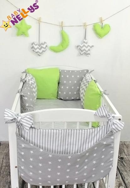 Baby Nellys Mantinel Be Love Lux 135x100cm, polštářkový s povlečením vzor č. 22