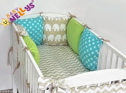 Baby Nellys Mantinel Be Love Lux 135x100cm, polštářkový s povlečením vzor č. 23