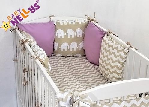 Baby Nellys Mantinel Be Love Lux 135x100cm, polštářkový s povlečením vzor č. 24