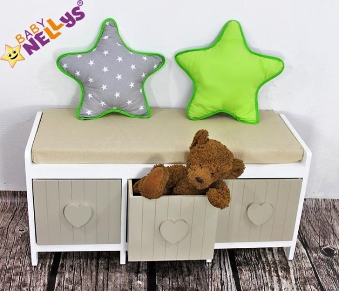 Baby Nellys Dekorační oboustranný polštářek - Hvězdička, vzor č. 1