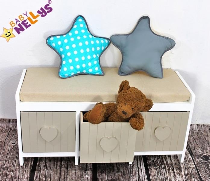 Baby Nellys Dekorační oboustranný polštářek - Hvězdička, vzor č. 4