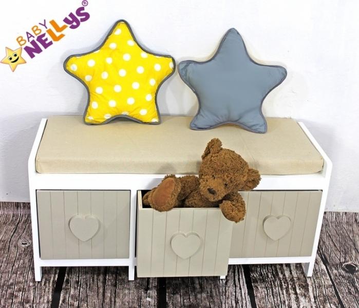 Baby Nellys Dekorační oboustranný polštářek - Hvězdička, vzor č. 5